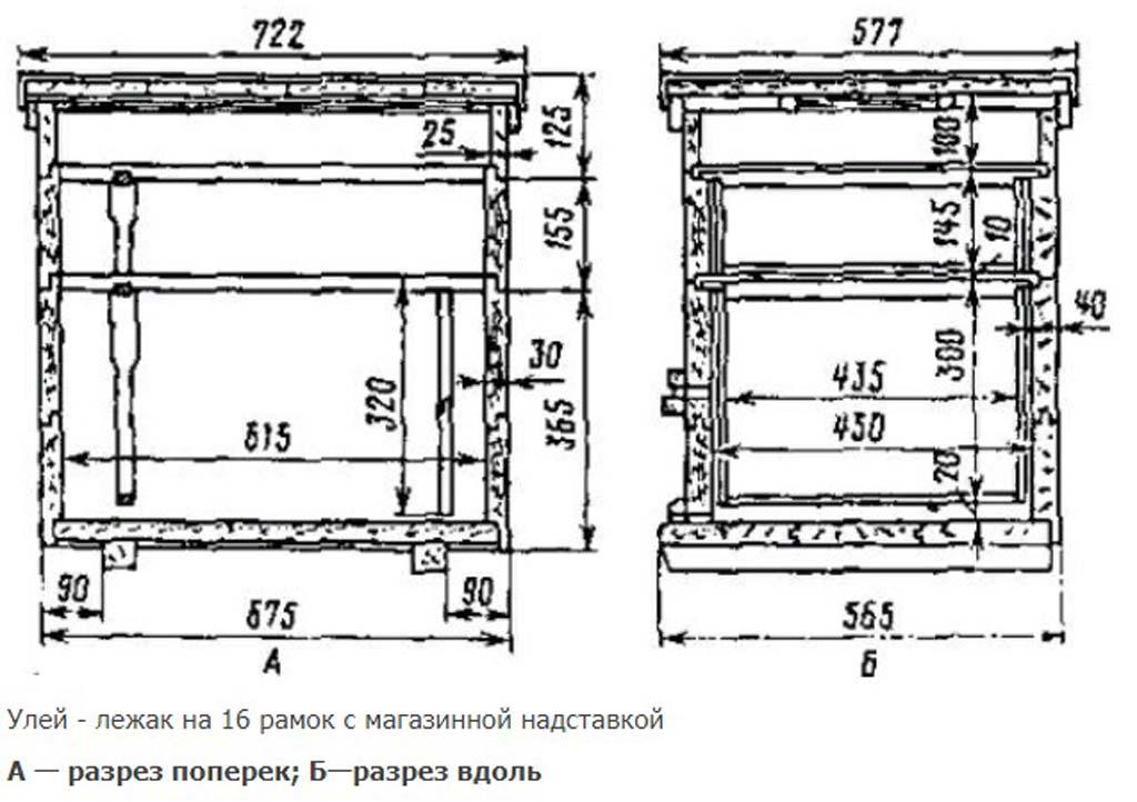 16-рамочный лежак