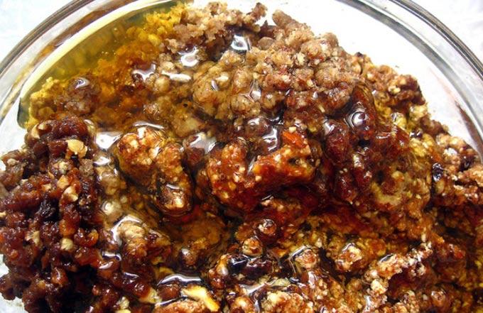изображение записи-мед, гречка, орехи